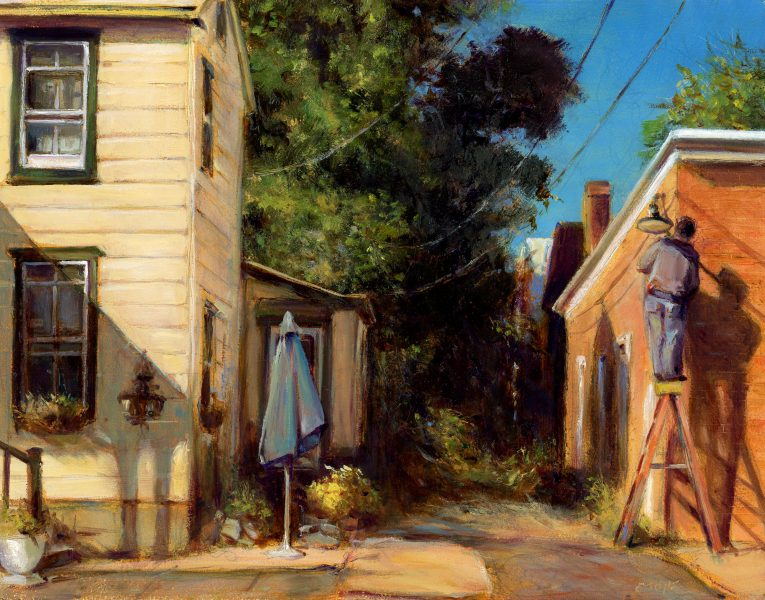 Afternoon Chore on Church Street by Charles Thomas Joyce