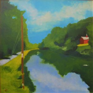 Canal at Red Barn by Kathleen Zwizanski