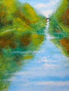 Delaware Canal by Nancy Lloyd