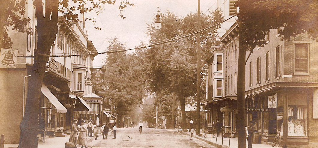 Union Street at Coryell Street circa 1905