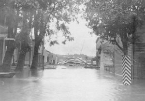 1903 flood, bridge from New Hope