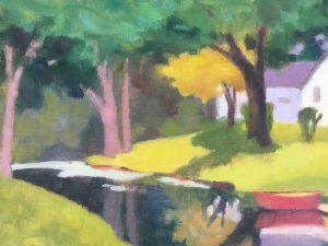 The Red Canoe by Debbie Pisacreta